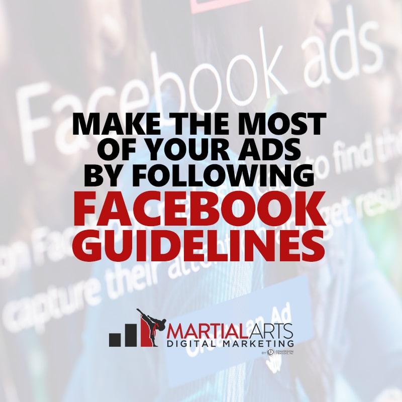 facebook guidelines for martial arts schools